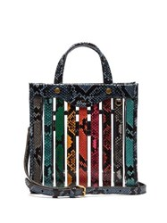 Anya Hindmarch Small Snake Effect Leather And Pvc Tote Multi