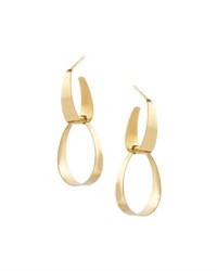 Lana Small Gloss Link Earrings In 14K Gold