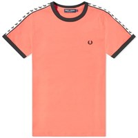 Fred Perry Authentic Taped Ringer Tee Orange