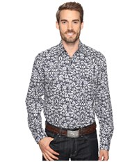 Stetson Morris Tapestry Print Snap Blue Men's Clothing