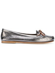 Tomas Maier Metallic Tie Loafers