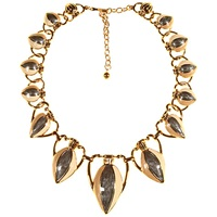 Alice Joseph Vintage Trifari Gold Plated Enamel Necklace Gold
