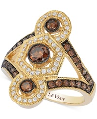 Le Vian Chocolatier Chocolate And White Diamond Deco Ring 1 Ct. T.W. In 14K Gold No Color
