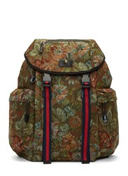 Gucci Zaino Floral Brocade Backpack Green