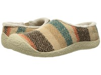 Keen Howser Ii Slide Wool Striped Women's Slippers Multi
