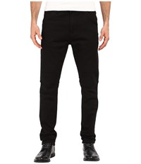 Kenneth Cole Sportswear Slim Moto Knit Five Pocket In Black Black Men's Jeans