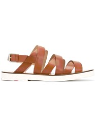 Paul Smith Ps By Strappy Sandals Brown