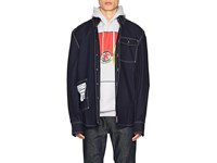 Vetements Topstitched Cotton Blend Oversized Workshirt Navy