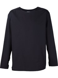 Christophe Lemaire Lemaire Denim Effect Wide T Shirt Black