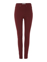 Dickins And Jones Jessica Elasticated Waist Jegging Burgundy