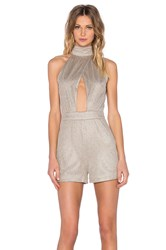 Misha Collection Oriana Playsuit Metallic Gold
