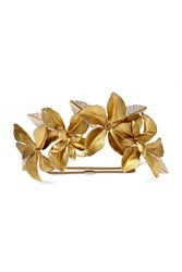 Jennifer Behr Hibiscus Gold Plated Headband