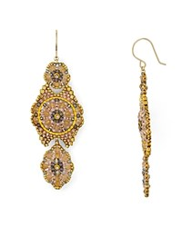 Miguel Ases Blush Chandelier Drop Earrings Gold