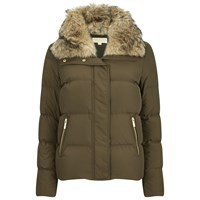 Michael Michael Kors Women's Crop Puffer Down Jacket Duffle Green