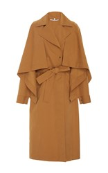 Rosetta Getty Cape Panel Trench Coat Brown