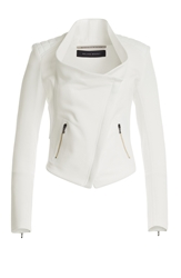 Roland Mouret Cotton Biker Jacket