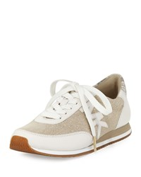 Michael Michael Kors Stanton Hemp Lace Up Trainer Natural