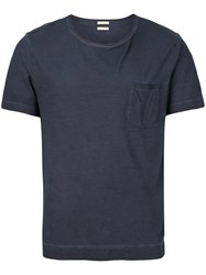 Massimo Alba Patch Pocket T Shirt Blue
