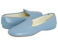Daniel Green Meg Blue Leather Women's Slippers