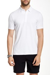 Perry Ellis Contrast Trim Spread Collar Polo White