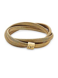 Diane Von Furstenberg Gemma Mini Interlocking Bracelet Gold