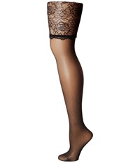 Wolford Lace Stockings Black Black Women's Lingerie