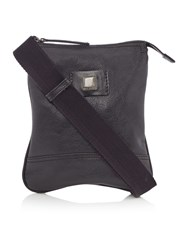 Hugo Boss Brilt Small Cross Body Leather Bag Black