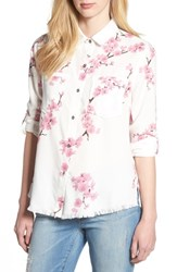 Billy T Cherry Blossom Roll Tab Sleeve Shirt