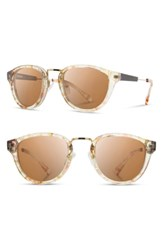 Shwood 'Ainsworth' 49Mm Polarized Sunglasses Blossom Gold Brown Blossom Gold Brown