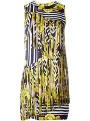 Marco Bologna Baroque Print Fringed Dress Yellow And Orange
