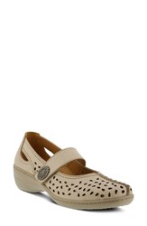 Spring Step Lorona Mary Jane Pump Beige Leather