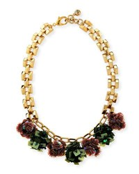 Lulu Frost Rumba Sequined Statement Necklace Gold