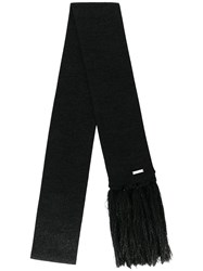 Dsquared2 D2 Knit Scarf Women Cotton Polyester Viscose One Size Black