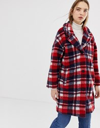 Minimum Check Coat Navy Blazer Multi