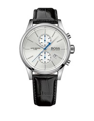 Hugo Boss Chrono Leather Band Watch Black