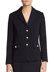 St. John Santana Knit Three Button Blazer Black