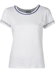 P.A.R.O.S.H. Embroidered Shells T Shirt White