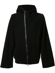 Julius Rear Print Zip Hoodie Black