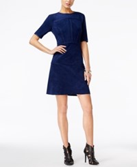 Guess Sallie Faux Suede A Line Dress Medieval Blue