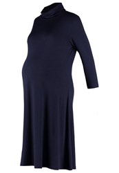 Mama Licious Mlroll Jersey Dress Navy Blazer Dark Blue