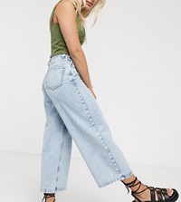 Noisy May Petite Wide Leg Jeans In Light Blue