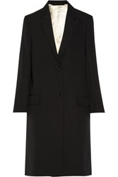 Christophe Lemaire Barathea Oversized Wool Coat Black