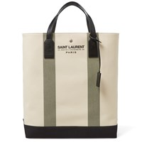Saint Laurent Beach Shopping Tote Bag Neutrals