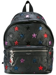 Saint Laurent Star Logo Backpack Black