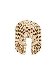Krizia Wide Chain Design Ring Metallic