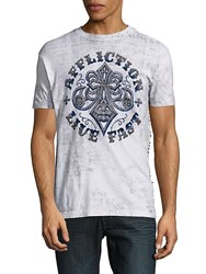 Affliction Logo Printed Crewneck Tee White