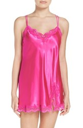 In Bloom By Jonquil Women's Satin Chemise Pink