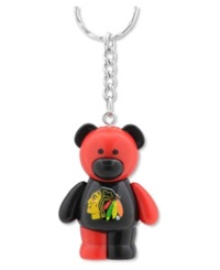 Forever Collectibles Chicago Blackhawks Bear Keychain Team Color