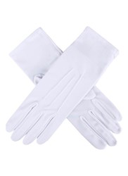 Dents Ladies Matt Satin Glove White