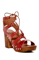 Kenneth Cole Reaction Log Fire Sandal Red